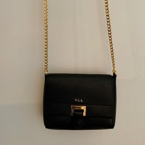 Ralph Lauren Black Leather Crossbody